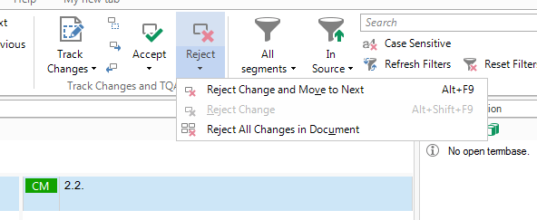 Retrofit - Review changes in SDL Trados Studio 2015