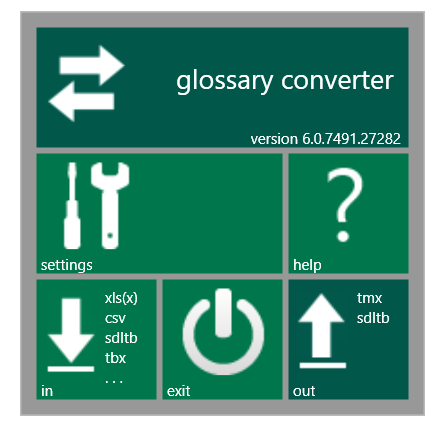 glossary converter app interface