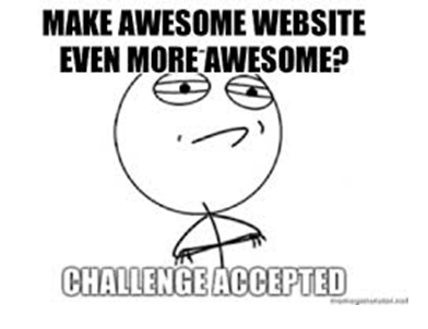 Make a website even more awesome meme